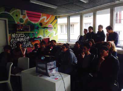 Projection-débat avec les jeunes de la Fontaine-au-Roi (2017)